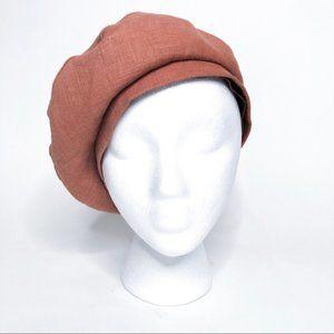 Drea Kadilak vintage silk lined canvas beret